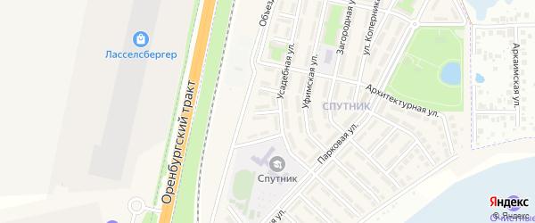 Янтарная улица на карте села Чесноковки с номерами домов