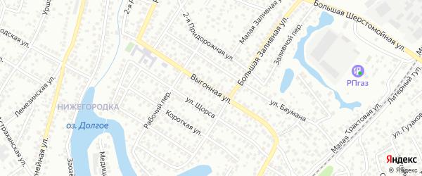 Выгонная улица на карте Уфы с номерами домов