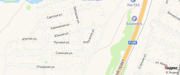 Радужная улица на карте села Зубово с номерами домов