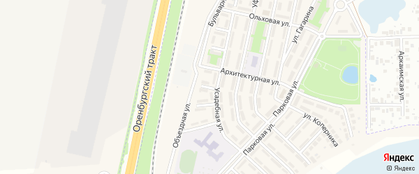 Виноградная улица на карте села Чесноковки с номерами домов