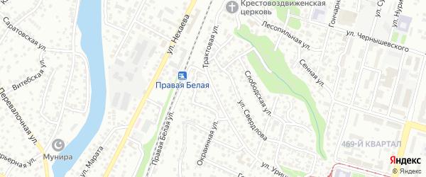 Трактовая улица на карте Уфы с номерами домов