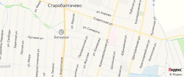 Карта села Старобалтачево в Башкортостане с улицами и номерами домов