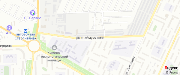 Улица Шаймуратова на карте Стерлитамака с номерами домов
