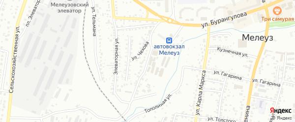Улица Чернышевского на карте Мелеуза с номерами домов