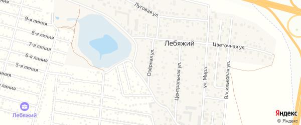 Озерная улица на карте села Лебяжьего с номерами домов