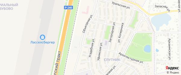 Кленовая улица на карте села Чесноковки с номерами домов
