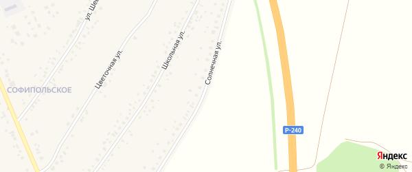 Солнечная улица на карте села Толбазы с номерами домов