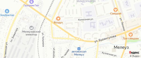 Улица Разина на карте Мелеуза с номерами домов