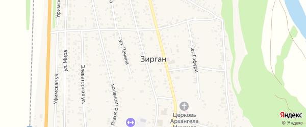 Улица Гафури на карте села Зиргана с номерами домов