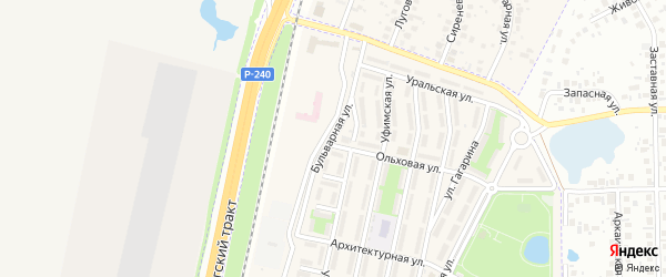 Бульварная улица на карте села Чесноковки с номерами домов