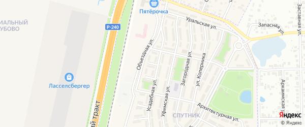 Зеленая улица на карте села Чесноковки с номерами домов