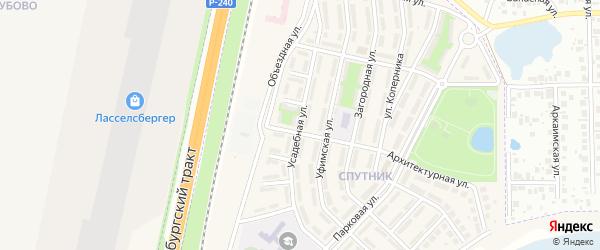 Усадебная улица на карте села Чесноковки с номерами домов
