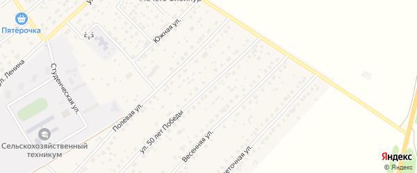 Улица 50 лет Победы на карте села Наумовки с номерами домов