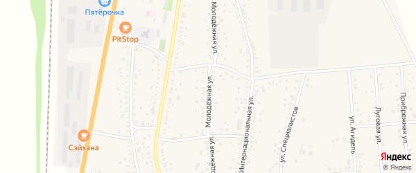 Молодежная улица на карте села Зиргана с номерами домов