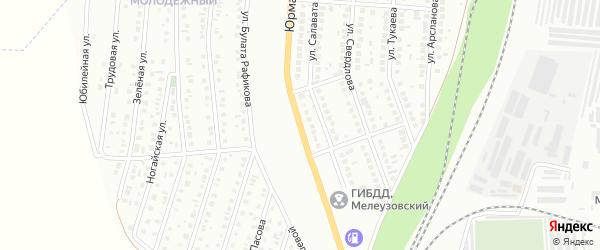 Юрматинская улица на карте Мелеуза с номерами домов