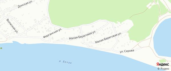Малая Береговая улица на карте Уфы с номерами домов