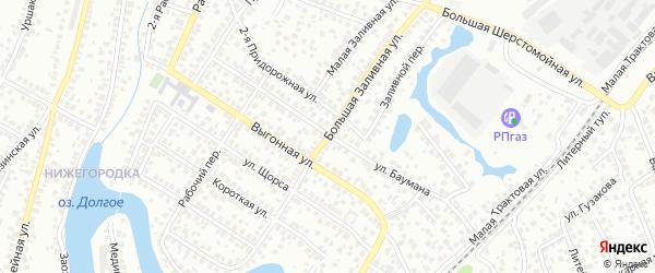 Заливная Большая улица на карте Уфы с номерами домов