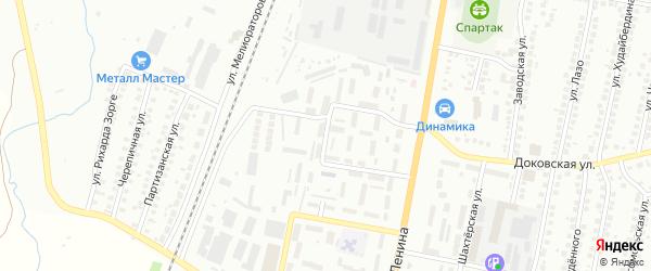 Метеорологическая улица на карте Мелеуза с номерами домов