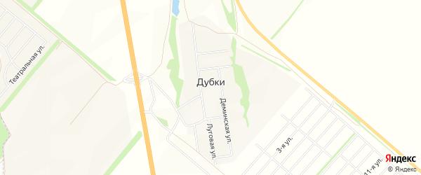 Карта поселка Дубки города Уфы в Башкортостане с улицами и номерами домов