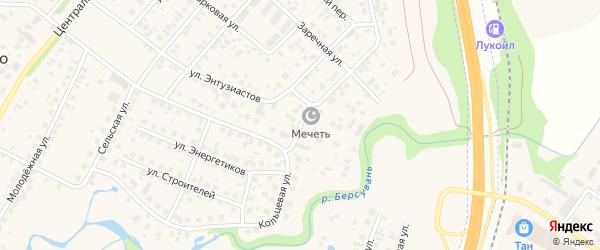 Зеленая улица на карте села Зубово с номерами домов