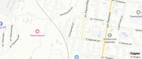 Гончарная улица на карте Мелеуза с номерами домов