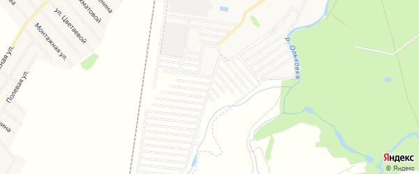 СНТ Фиалка на карте Стерлитамакского района с номерами домов