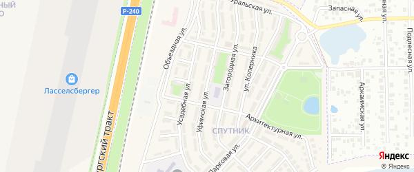 Уфимская улица на карте села Чесноковки с номерами домов