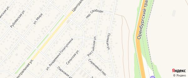 Российская улица на карте села Зубово с номерами домов