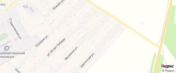 Весенняя улица на карте села Наумовки с номерами домов