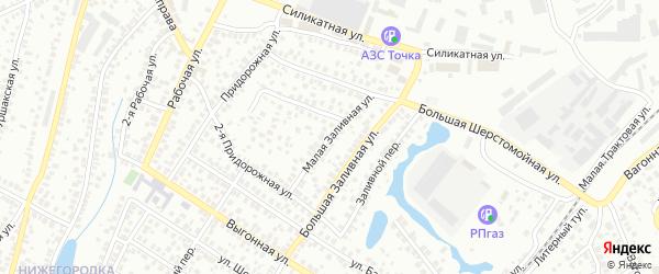 Заливная улица на карте Уфы с номерами домов