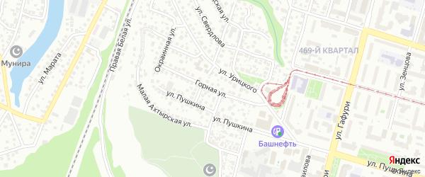 Горная улица на карте Уфы с номерами домов