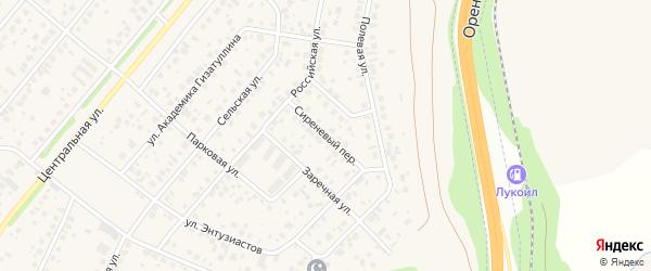 Сиреневый переулок на карте села Зубово с номерами домов