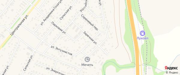 Заречная улица на карте села Зубово с номерами домов