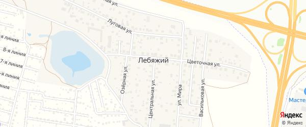 Садовый переулок на карте села Лебяжьего с номерами домов