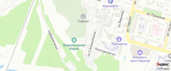 Алтайская улица на карте Уфы с номерами домов