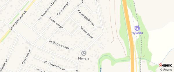 Северная улица на карте села Зубово с номерами домов
