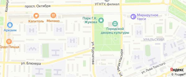Улица Курчатова на карте Стерлитамака с номерами домов