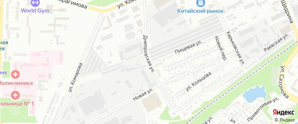 Днепровская улица на карте Стерлитамака с номерами домов