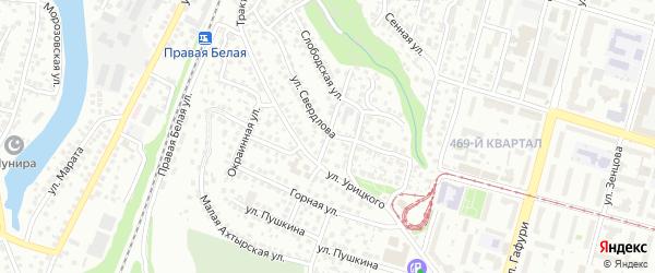 Улица Галановой на карте Уфы с номерами домов