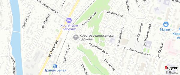 Улица Котовского на карте Уфы с номерами домов
