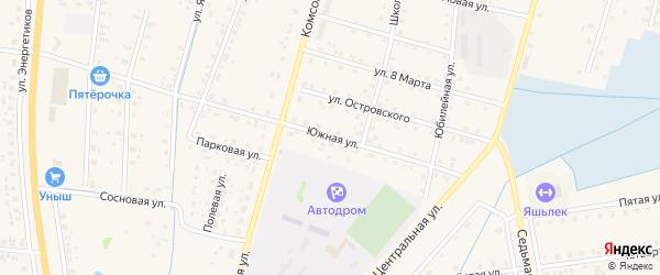 Южная улица на карте села Старобалтачево с номерами домов