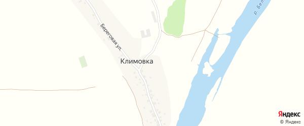 Береговая улица на карте деревни Климовки с номерами домов