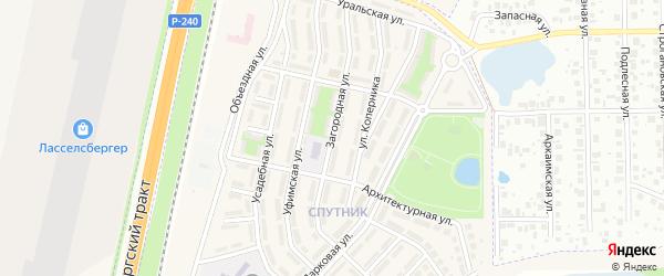 Загородная улица на карте села Чесноковки с номерами домов