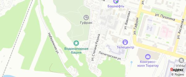 Малая Водопроводная улица на карте Уфы с номерами домов