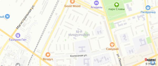32-й микрорайон на карте Мелеуза с номерами домов