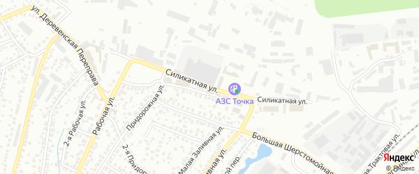Силикатная улица на карте Уфы с номерами домов
