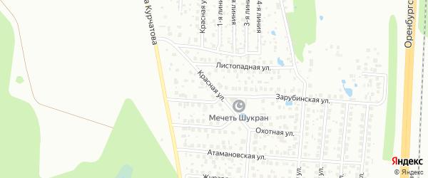 Красная улица на карте Уфы с номерами домов