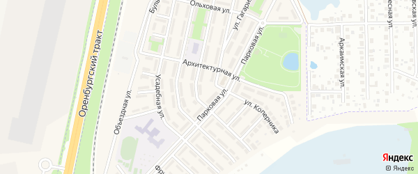 Улица Спутник на карте Октябрьского с номерами домов