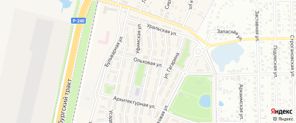 Ольховая улица на карте села Чесноковки с номерами домов