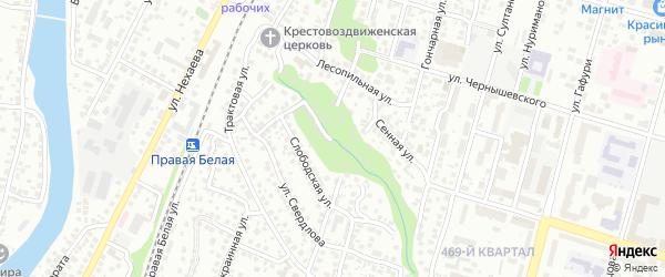 Ломовой переулок на карте Уфы с номерами домов